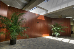 HDR of Interior of Office Lobby. With Wood Paneling Royalty Free Stock Photos