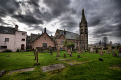 HDR of Inverness Cemetery Royalty Free Stock Photography
