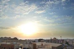 HDR Jeddah am Sonnenuntergang lizenzfreies stockbild