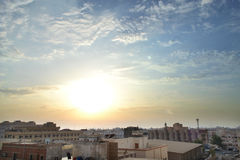 HDR Jeddah at sunset. Jeddah at sunset Royalty Free Stock Image