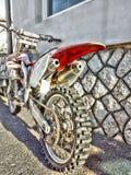HDR, krzyż, Honda, motocykl, sport, rower górski, 250ccm, ekstremum bawi się zdjęcie stock