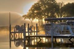 HDR of Lake Okoboji. Iowa at Sunrise in the Summer Royalty Free Stock Photography