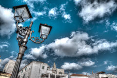 Hdr lamp post Royalty Free Stock Images