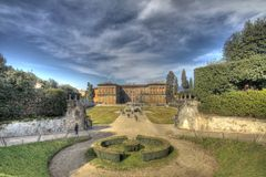 Boboli garden - HDR. A HDR land scape of Boboli garden in Florence Royalty Free Stock Images