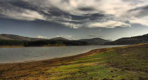 Hdr landscape. HDR of bulgarian landscape with colorful sky Stock Photography