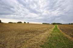 HDR landscape with fields Royalty Free Stock Photos