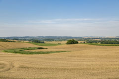 HDR landscape with fields Royalty Free Stock Images