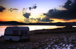 HDR landscape near lake Royalty Free Stock Photos