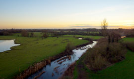 HDR landscape over looking Leicestershire countryside Stock Images