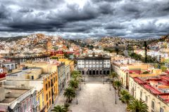 HDR Las Palmas. Las Palmas is the capital of Gran Canaria royalty free stock photo