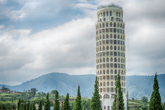 HDR,The Leaning Tower of Pisa , the Tower of Pisa ,Thailand. Royalty Free Stock Photography