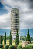 HDR,The Leaning Tower of Pisa , the Tower of Pisa ,Thailand. Royalty Free Stock Photo