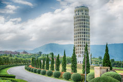 HDR,The Leaning Tower of Pisa , the Tower of Pisa ,Thailand. Royalty Free Stock Image