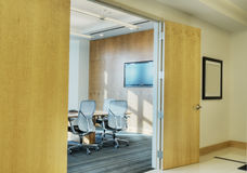 HDR of Lobby with View of Boardroom Stock Images