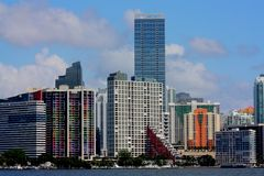 HDR Miami Florida Skyline Stock Images