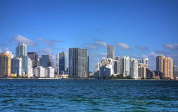 HDR Miami Florida Skyline Royalty Free Stock Images