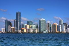 HDR Miami Florida Skyline Stock Photography