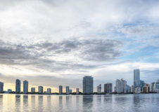 HDR of Miami Skyline Royalty Free Stock Photos