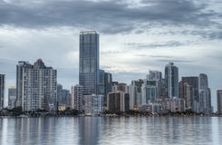 HDR of Miami Skyline Royalty Free Stock Images