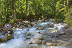 HDR of a mountain stream Royalty Free Stock Images