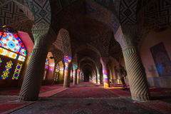 HDR of Nasir al-Mulk Mosque in Shiraz, Iran. Nasir al-Mulk Mosque is one of the most picturesque stock photos