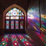 HDR of Nasir al-Mulk Mosque in Shiraz, Iran. Nasir al-Mulk Mosque is one of the most picturesque Royalty Free Stock Photos