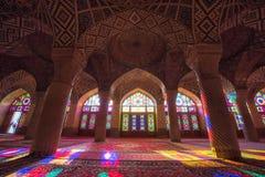HDR of Nasir al-Mulk Mosque in Shiraz, Iran. Nasir al-Mulk Mosque is one of the most picturesque Stock Photo