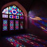 HDR of Nasir al-Mulk Mosque in Shiraz, Iran. Nasir al-Mulk Mosque is one of the most picturesque Royalty Free Stock Image