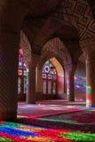 HDR of Nasir al-Mulk Mosque in Shiraz, Iran. Nasir al-Mulk Mosque is one of the most picturesque Royalty Free Stock Images