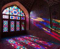 HDR of Nasir al-Mulk Mosque in Shiraz, Iran. Nasir al-Mulk Mosque is one of the most picturesque Royalty Free Stock Photo