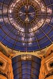 HDR night photo of Galleria Vittorio Emanuele II in Milan Stock Photo