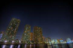 hdr noc krajobrazowa Tokio Fotografia Stock