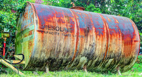 HDR-old gasoline tank Royalty Free Stock Photos