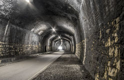 HDR old railway tunnel Stock Photo