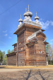 HDR of old wooden church in Malye Karely (Little Karely) near Ar Stock Photography
