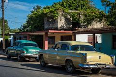 HDR Oldtimer in a village in the countryside from Cuba Stock Photos