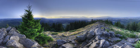 HDR Panorama of Mount Pisgah royalty free stock images