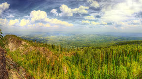 The HDR panorama of the mountains Stock Image