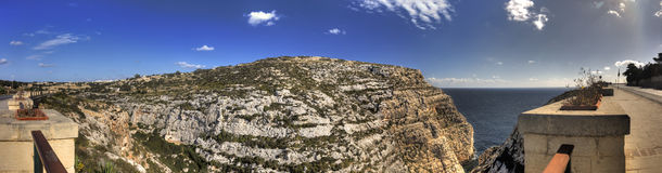 HDR panorama photo of Blue Grotto area in Malta, Europe Stock Images