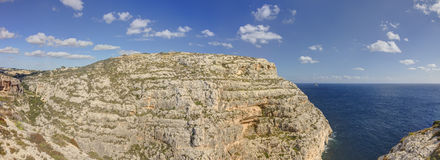 HDR panorama photo of Blue Grotto area in Malta, Europe Royalty Free Stock Photography