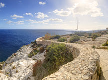 HDR panorama photo of Blue Grotto area in Malta, Europe Stock Photos