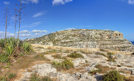 HDR panorama photo of Blue Grotto area in Malta, Europe Royalty Free Stock Photos