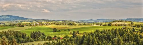 HDR Panorama Photo Czech Landscape Stock Image