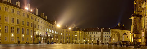 HDR panorama photo of the Inner yard of the Prague castle Royalty Free Stock Photo