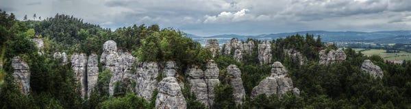 HDR Panorama Photo Rocks Royalty Free Stock Photography