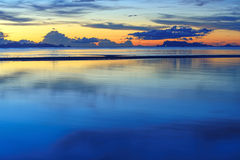 HDR panoramic tropical seascape sunset background Royalty Free Stock Photo