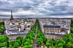 HDR Parijs Stock Afbeelding