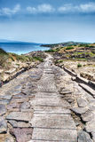 Hdr path in Tharros Stock Images