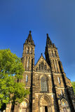 HDR photo of the beautiful old basilica of Saint Peter and Saint Paul, Vysehrad, Prague, Czech republic Stock Images