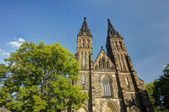 HDR photo of the beautiful old basilica of Saint Peter and Saint Paul, Vysehrad, Prague, Czech republic Royalty Free Stock Photos